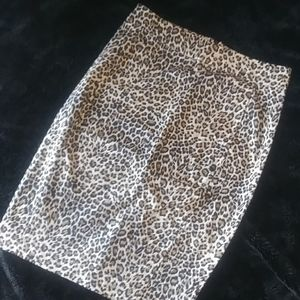 🎈Adrienne Vittadini Cheetah Print Pencil Skirt